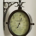 Outdoor-Waterproof-8-Double-Sided-Clock-And-Thermometer-Indoor-Rustic-Charleston-Clock-0-1