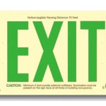 Photoluminescent-Exit-Sign-50-Viewing-Distance-Feet-Green-No-Electricity-Code-Compliant-UL-Listed-Arrows-Surface-Mount-Made-in-USA-0