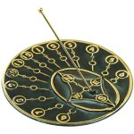 Rome-2309-Modern-Times-Sundial-Solid-Brass-with-Verdigris-Highlights-10-Inch-Diameter-0