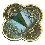 Rome-2340-Angel-Sundial-Solid-Brass-with-Verdigris-Highlights-975-Inch-Diameter-0