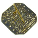Rome-2375-Romanesque-Sundial-Solid-Brass-with-Verdigris-Highlights-85-Inch-Diameter-0