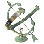 Rome-RM1336-Polished-Brass-18-Inch-Diameter-Armillary-Sundial-0