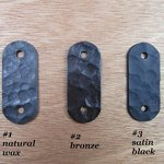 Rustic-Custom-Hammered-Wrought-Iron-Address-Plaque-Vertical-APV23-3number-0-1