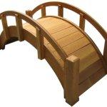SamsGazebos-Miniature-Japanese-Waterproofed-Wood-Garden-Bridge-25-Inch-Tan-0