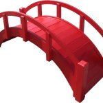 SamsGazebos-Miniature-Japanese-Wood-Garden-Bridge-29-Inch-Red-0