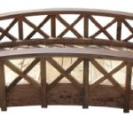 SamsGazebos-Swan-Wood-Garden-Bridge-with-Cross-Halved-Lattice-Railings-6-Feet-Brown-0-0