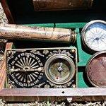 Set-Of-Three-Marine-Box-with-Compass-Telescope-Sundial-CompassC-3185-0