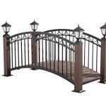 Sunjoy-L-BG018PST-D1-Mortlake-Garden-Bridge-7322-by-3464-by-4291-Inch-0