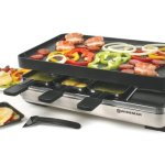 Swissmar-KF-77080-Stelvio-8-Person-Raclette-Party-Grill-with-Reversible-Cast-Aluminum-Non-Stick-Grill-Plate-Crepe-Top-Brushed-Stainless-Steel-0