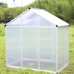 Walcut-Magic-Garden-Series-Walk-in-Aluminum-Greenhouse-Silver-0-0