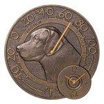 Whitehall-Labrador-Thermometer-Clock-Antique-Copper-0