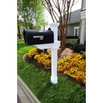 Zippity-Outdoor-Products-Classica-Mailbox-Post-with-No-Dig-Steel-Pipe-Anchor-Kit-White-0
