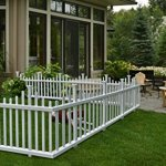 Zippity-Outdoor-Products-ZP19001-No-Dig-Vinyl-Picket-Unassembled-Garden-Fence-2-Pack-30-x-58-White-0