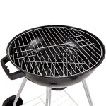 185-Charcoal-Grill-Enamel-Lid-2-Bottom-Storage-Wire-Rack-Wheels-Kettle-Style-Design-Outdoor-Garden-Patio-Backyard-Yard-BBQ-Barbecue-Cooking-Grilling-Durable-Sturdy-Steel-Frame-Removable-Ash-Catcher-0-2