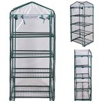 AK-Energy-63-Tall-Portable-Outdoor-4-Shelves-Tier-Garden-Flower-Plant-Clear-Greenhouse-PE-Cover-0-1