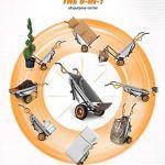 AlekShop-Multipurpose-cart-Wheelbarrow-Yard-Courtyard-Garden-Transport-Heavy-Duty-Cart-8-in-1-Multi-Function-0-0