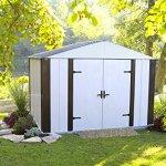 Arrow-Designer-Steel-Storage-Shed-JavaSand-10-x-8-ft-0-1