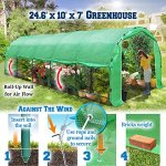 BenefitUSA-Portable-Greenhouse-246-X10-X-7-Walk-In-Outdoor-Plant-Gardening-Hot-Green-House-with-ABS-Snap-Clamp-0-0
