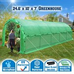 BenefitUSA-Portable-Greenhouse-246-X10-X-7-Walk-In-Outdoor-Plant-Gardening-Hot-Green-House-with-ABS-Snap-Clamp-0-1