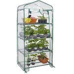 Best-Choice-Products-27x19x63in-4-Tier-Mini-Greenhouse-w-Cover-and-Roll-Up-Zipper-Door-Green-0