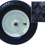 Bon-11-681-Premium-Contractor-Grade-Poly-Tray-Single-Wheel-Wheelbarrow-with-Wood-Handle-and-Knobby-Tire-5-34-Cubic-Feet-0-0