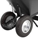 Bon-28-907-Premium-Contractor-Grade-Poly-Tray-Double-Wheel-Wheelbarrow-with-Steel-Hande-and-Knobby-Tire-5-34-Cubic-Feet-0-0