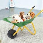 Costzon-Kids-Wheelbarrow-Solid-Metal-Construction-Yard-Rover-Carbon-Steel-Tray-Sandbox-Beach-Dirt-Snow-Garden-Tool-for-Boys-Girls-0-0
