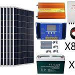ECO-WORTHY-800-Watts-Solar-Panel-Kit-8pcs-100W-Poly-Solar-Panel-200AH-Battery-3KW-24V-110V-Off-Grid-Inverter-Combiner-Box-15ft-Solar-Cable-60A-Charge-Controller-Z-Mounting-Brackets-0