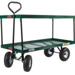 Farm-Tuff-Double-Deck-Metal-Wagon-24-Inch-by-48-Inch-Green-0