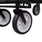 Festnight-Black-Foldable-Garden-Trolley-0-2