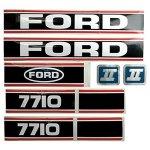 FordNew-Holland-7710-Force-II-Black-Red-Hood-Decal-Set-86-0