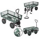 Garden-Carts-Wagons-Heavy-Duty-Utility-Outdoor-Steel-Beach-Lawn-Yard-Buggy-0-1