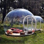 HUKOER-Stylish-Conservatory-Play-Area-for-Children-Greenhouse-or-GazeboOutdoor-Single-Tunnel-Inflatable-Bubble-TentFamily-Camping-Backyard-Transparent-Tent-With-Blower-0-0
