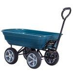 Heavy-Duty-Rolling-Garden-Dump-Cart-Utility-Dumper-Wagon-Carrier-Wheelbarrow-Carrier-10-PU-Air-Tires-Heavy-Duty-Construction-Perfect-For-Gardening-Planting-Outdoor-Yard-Use-440-LBS-Load-Capacity-0-0
