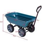 Heavy-Duty-Rolling-Garden-Dump-Cart-Utility-Dumper-Wagon-Carrier-Wheelbarrow-Carrier-10-PU-Air-Tires-Heavy-Duty-Construction-Perfect-For-Gardening-Planting-Outdoor-Yard-Use-440-LBS-Load-Capacity-0-1