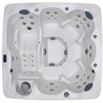 Home-and-Garden-Spas-HG71A-6-Person-71-Outdoor-Spa-with-Mp3-Auxiliary-Output-Ozone-82-x-82-x-35-Sterling-White-0