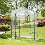 Junda-Portable-Greenhouse-56-x28-x-76-Reinforced-PVC-Cover-without-Shelf-Waterproof-UV-Protected-0-0