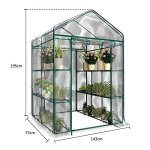 Junda-Portable-Greenhouse-56-x28-x-76-Reinforced-PVC-Cover-without-Shelf-Waterproof-UV-Protected-0-1
