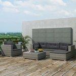 K-Top-Deal-17-Pieces-Patio-Outdoor-Wicker-Rattan-Sofa-Set-with-Cushion-Set-Grey-0