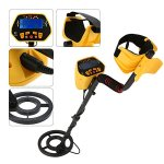 KKmoon-Metal-Detector-Fully-Automatic-Metal-Detector-with-LCD-Display-Treasure-Hunter-Sensitive-Search-Gold-Digger-Black-Yellow-0-0