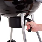 Kettle-Charcoal-Grill-Outdoor-Backyard-BBQ-Cooking-with-Wheels-Black-185-Inch-0-2