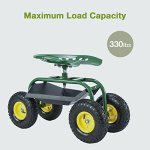 Mecor-Garden-Cart-Rolling-Work-Seat-with-Heavy-Duty-Tool-Tray-Gardening-Planting-Cart-330Ibs-Green-0-0