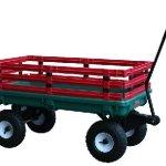 Millside-Industries-04220-20-inch-x-38-inch-Plastic-Deck-Wagon-with-4-inch-x-10-inch-Tires-Green-0