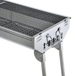 New-Large-36-in-x-13-in-Russian-Style-Stainless-Steel-Portable-Folding-Charcoal-BBQ-Grill-Camping-Fishing-House-Party-or-in-Park-Nature—Special-Order-Allow-Extra-Time-for-Delivery-0-2