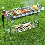 OOOQDUA-Charcoal-barbecue-grill-stainless-steel-barbecue-rack-portable-folding-barbecue-rack-0-1