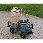 Oakland-Living-Corporation-450-lb-Weight-Capacity-Garden-Cart-with-Adaptor-Handle-in-Green-0-1