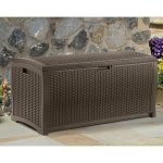 Outdoor-Storage-Wicker-Bench-with-Handles-Resin-Construction-Stay-Dry-Design-Deck-Box-for-Storing-Gardening-Tools-Pool-Supplies-Chair-Cushions-Extra-Space-Patio-Furniture-BONUS-E-book-0