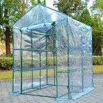 Outsunny-5-x-5-x-6-Portable-Walk-in-Garden-Steeple-Greenhouse-0-1