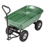 PayLessHere-Heavy-Duty-Poly-Garden-Utility-Yard-Dump-Cart-Garden-Cart-Wheel-Barrow-0