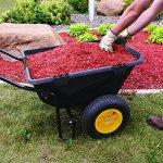 Polar-Trailer-8449-Heavy-Duty-Cub-Cart-50-x-28-x-29-Inch-400-Lbs-Load-Capacity-7-Cubic-Feet-Tub-Rugged-Wide-Track-Tires-Utility-and-Hauling-Cart-Black-0-1